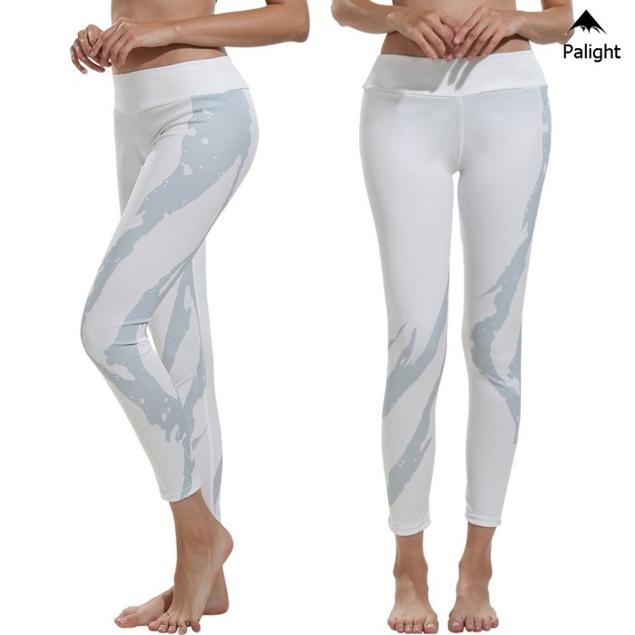 Jual Celana Legging Panjang Wanita Motif Print Warna Putih Untuk Yoga Jakarta Selatan Xeril Tokopedia
