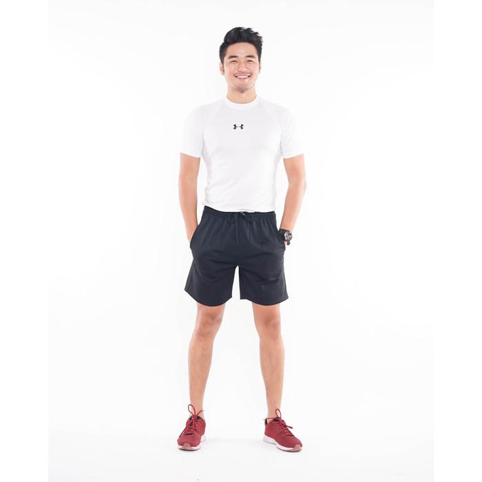 Foto Produk Celana Olahraga MIZUNO Polos Warna Hitam - Logo Hitam, L dari Simplezone
