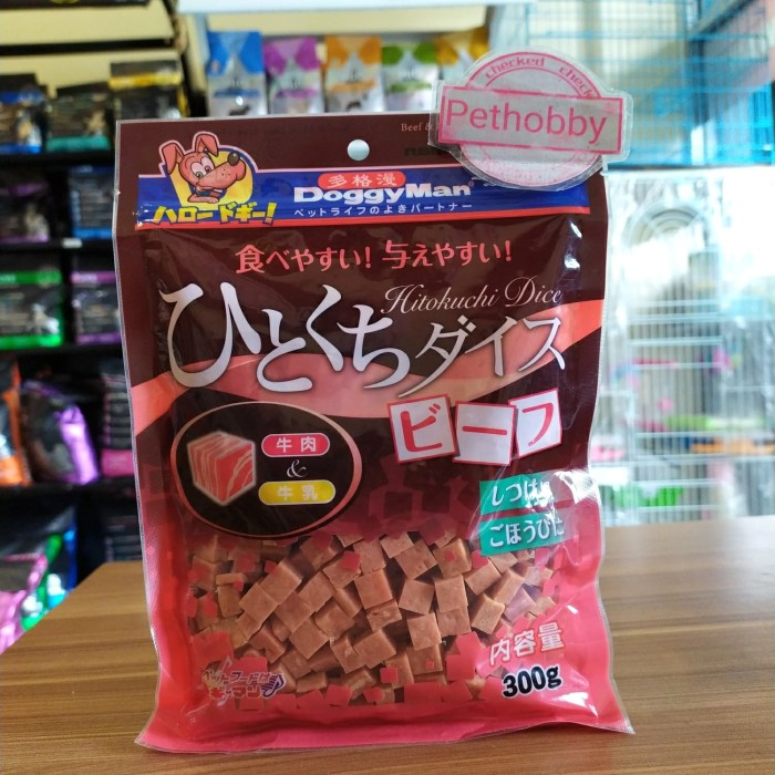 Foto Produk Snack Anjing DoggyMan Beef&Milk Dice Treats For Dog 300gr dari Pethobby