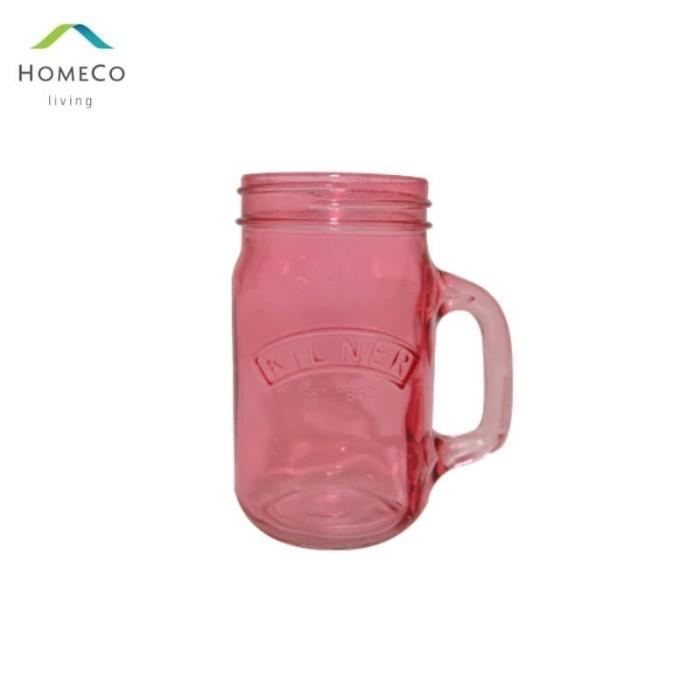 Foto Produk KILNER DRINKING JAR / GELAS TOPLES / MUG TOPLES 500 ML PINK dari Homeco Living Official