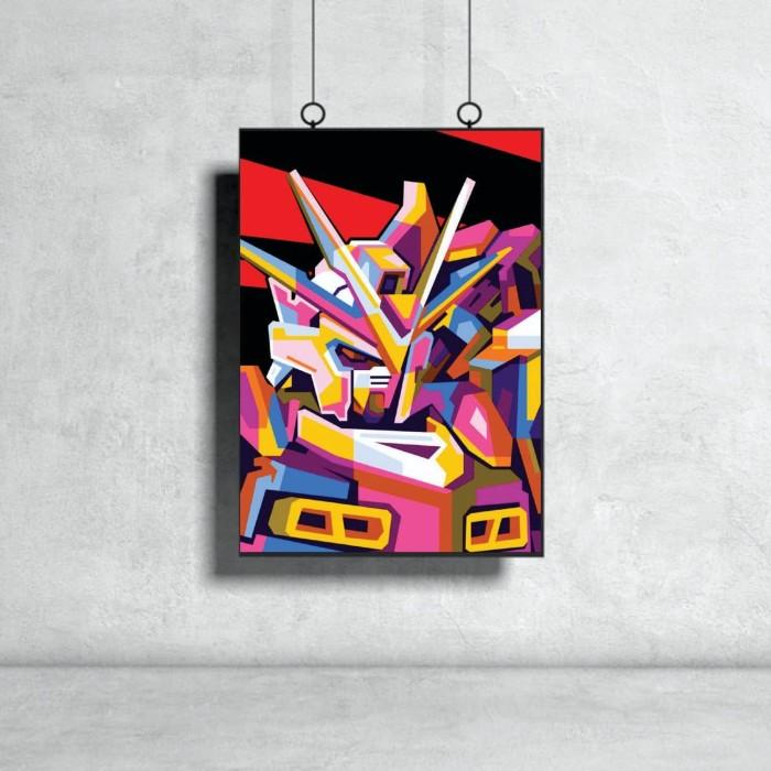 Foto Produk Poster Kayu Motif Gundam Art Color dari dearbest