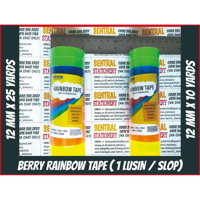 Foto Produk Deco Rainbow Tape 12 mm Solid Neon Color Isolasi Fancy Selotip Pelangi - S dari Sentral Stationery