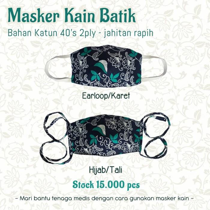 Jual Masker Kain Katun Batik 2ply Jakarta Pusat Batik Sutra Putih Tokopedia
