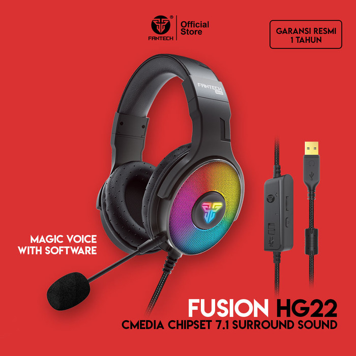 Foto Produk Fantech FUSION HG22 CMedia Chipset 7.1 Surround Sound Headset Gaming - Headset Only dari Fantech Official Store