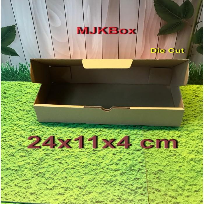 Foto Produk kotak kardus Uk.24x11x4 cm....Die Cut bisa untuk packing Kurma 500 gr dari MJKbox
