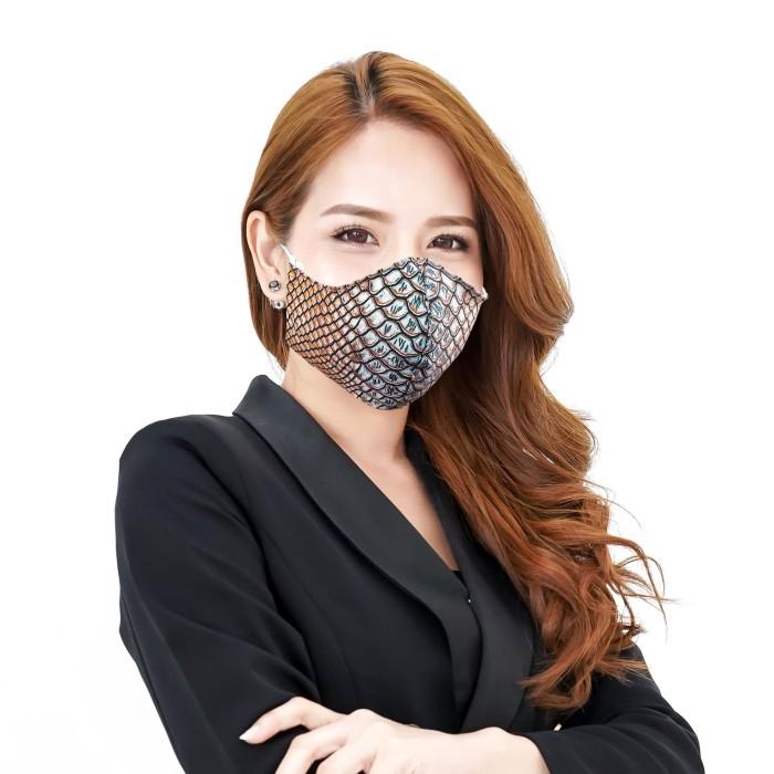 Jual Masker Kain Motif Kulit Ular Tetap Trendy dan Gaya ...
