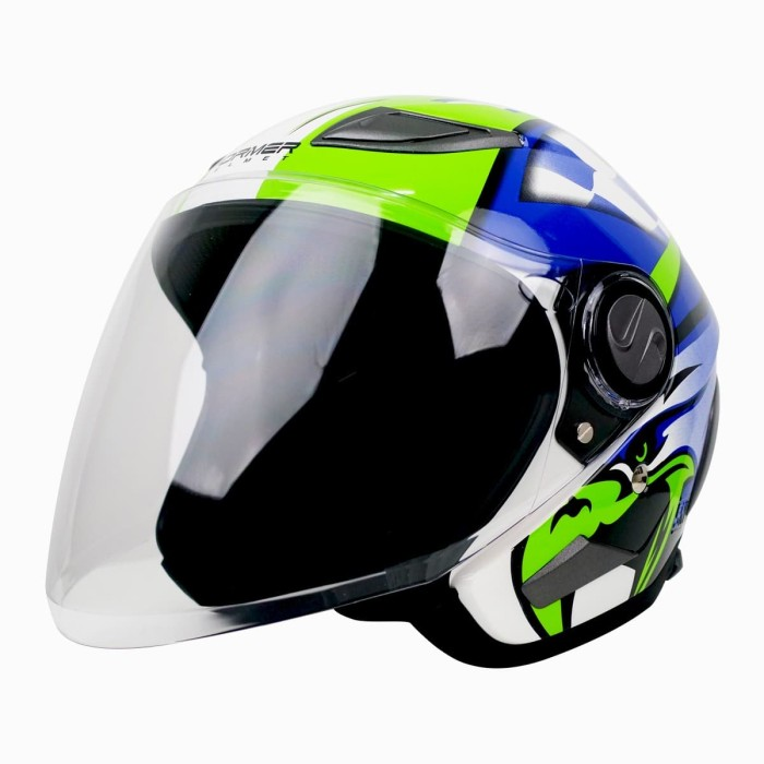 Foto Produk Helm Cargloss Former EAGLE STRIKE Helm Open Face - BLUE SP WHITY WHITE - L dari Helm Cargloss
