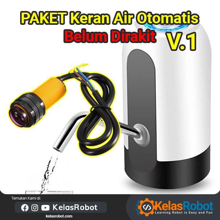 Foto Produk Paket Keran Pompa Air Otomatis BELUM DIRAKIT V1 e18 d80nk e18-d80nk dari Kelas Robot