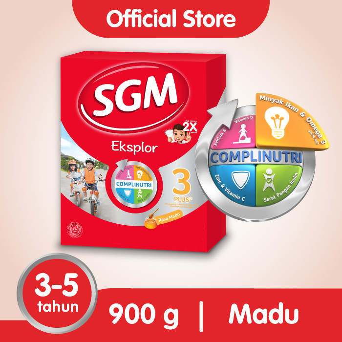 Foto Produk SGM Eksplor 3 Plus Susu Pertumbuhan 3-5 Thn Madu 900g dari SGM Official Store