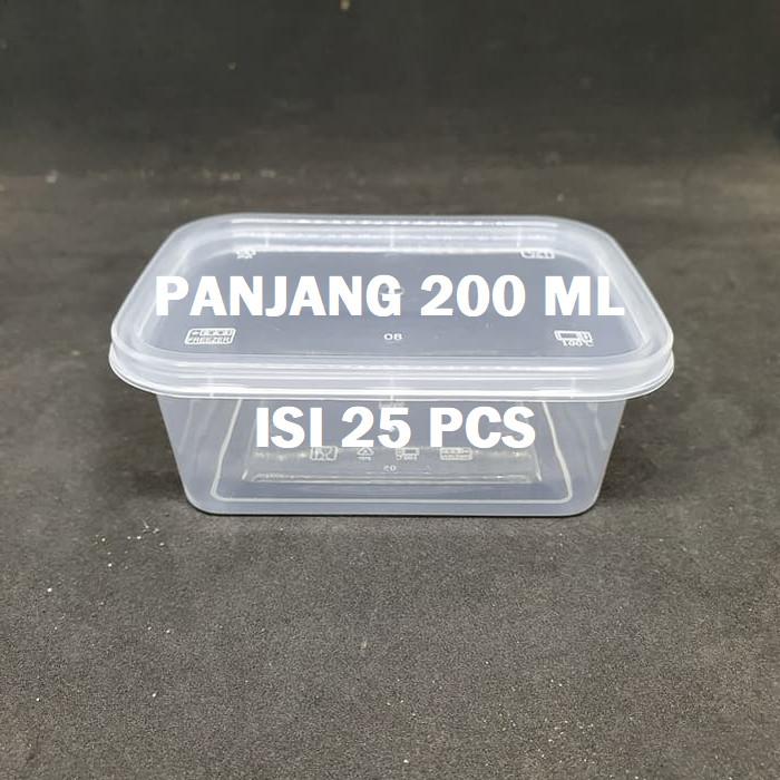 Foto Produk THINWALL PANJANG 200 ML - 200ML KOTAK MAKAN ANTI PANAS ISI 25PCS dari BCA PACK