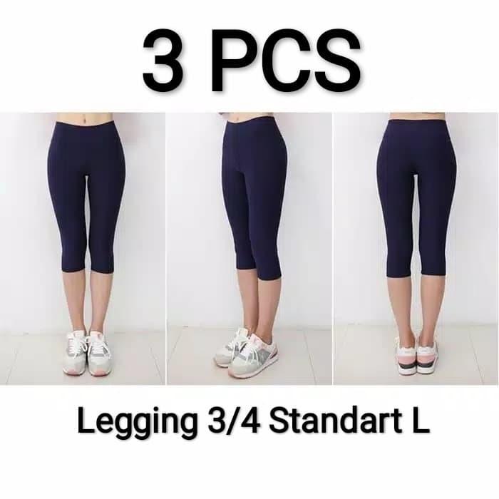 Jual 3 Pcs Celana Legging Wanita 3 4 Standar Size L Kota Tangerang Selatan Al Ghifari W Tokopedia
