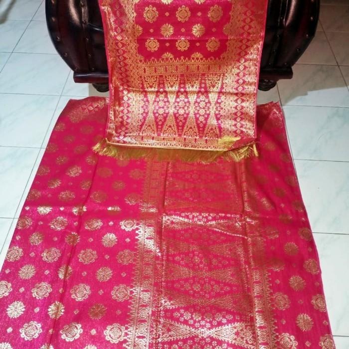 Foto Produk Songket Mesin Motif Lepus Palembang Pink 20417 dari Cika Etnic Galeri