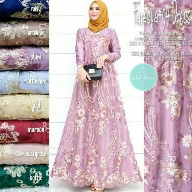Jual Farasya Dress Tile 94 Original Gamis Brokat Baju Gamis Terbaru 2020 Jakarta Selatan Charleycook Tokopedia