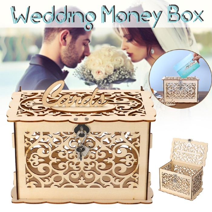 Jual Rustic Wedding Card Box Birthday Party Diy Wooden Gift Case Lock Kab Bogor Rexuva Tokopedia