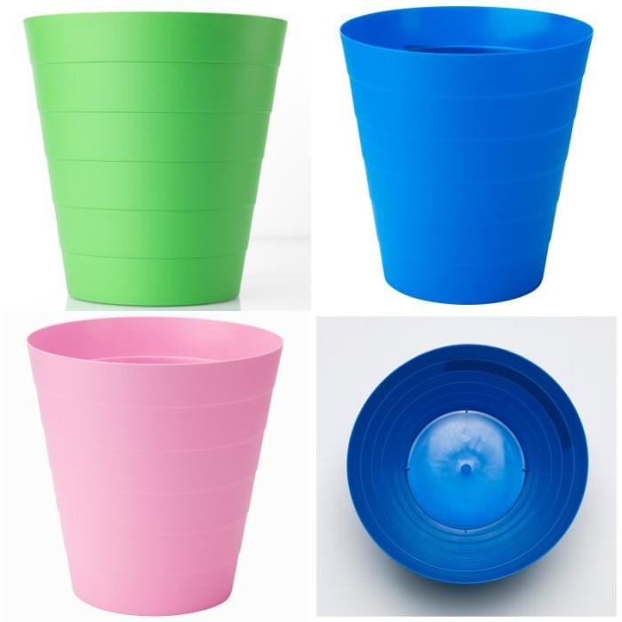 Foto Produk IKEA - Fniss Tempat sampah 6,8 liter tanpa tutup hijau muda, biru dan dari ingatan