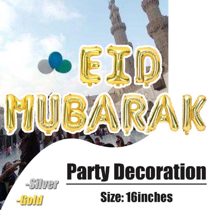 Jual 16 Inch Islam Eid Mubarak Muslim Aluminum Foil Balloon Decorations Kab Bogor Rexuva Tokopedia