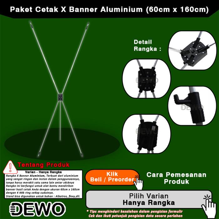 Jual X Banner 60cm X 160cm Aluminium Adjustable Stand Promosi Display Hanya Rangka Kota Salatiga Dewocom Tokopedia
