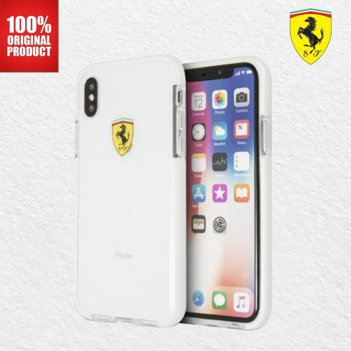 Foto Produk Ferrari Glossy Transparent - iPhone X - White Side dari PlayWorks Official Store