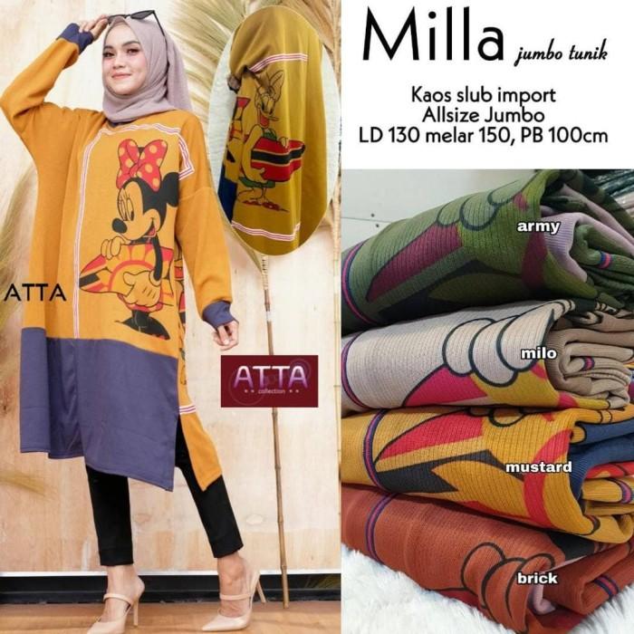 Foto Produk Baju Atasan Wanita Blouse Muslim Milla Jumbo Tunik atta dari myfashion