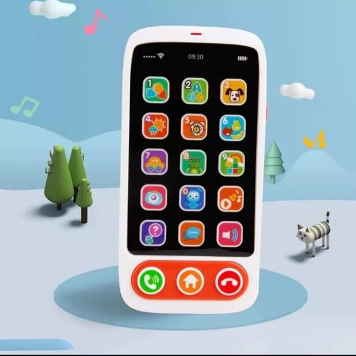 Foto Produk Mainan Edukasi Anak simulasi Ponsel Musik/Hp Mainan Music touch dari AUTO KID II