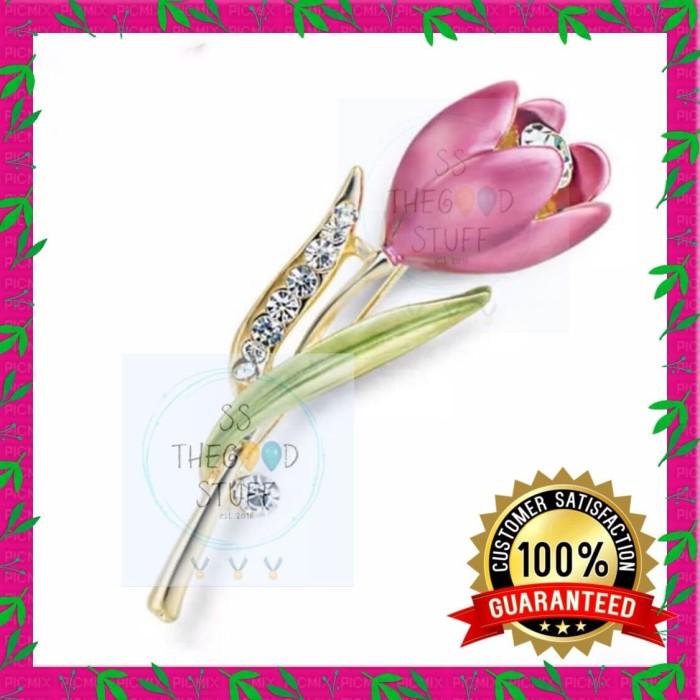 Foto Produk Pin Bross Motif Bunga Kristal Berlian Premium Quality Best Seller! dari SS TheGoodStuff