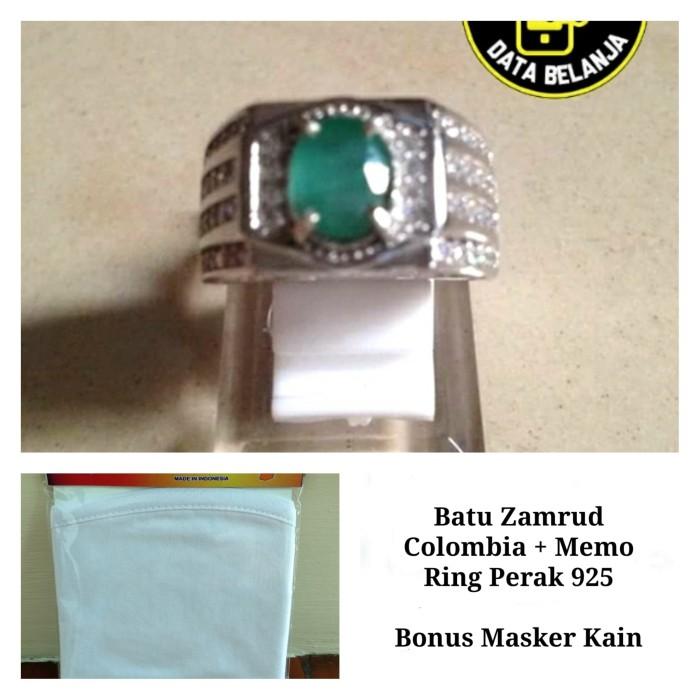 Foto Produk Batu Zamrud Colombia + Memo ( Ring Perak 925 ) dari Data Belanja