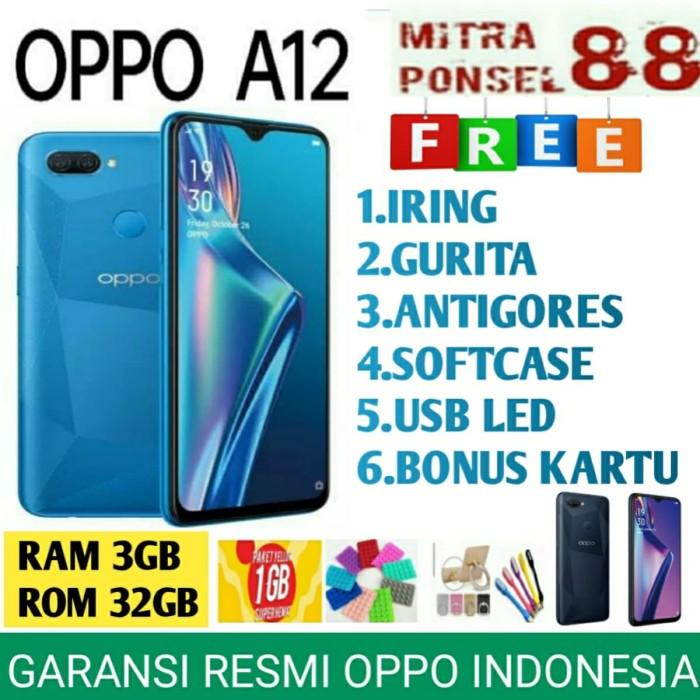 Foto Produk OPPO A12 RAM 3/32 GB GARANSI RESMI OPPO INDONESIA 1 TAHUN - Hitam dari Mitra Ponsel 88