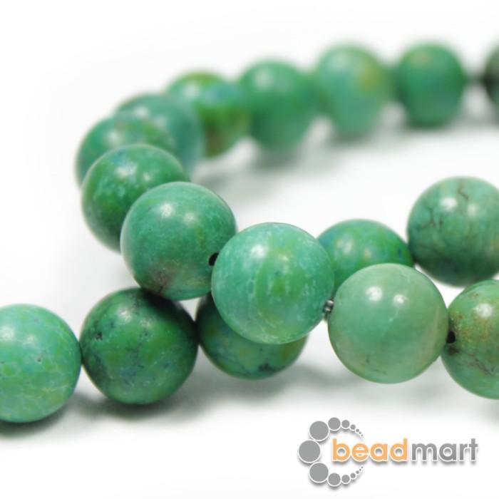 Foto Produk Manik Batu Alam, Xingjiang Turquoise, 1 Renteng, Bahan Aksesoris - 8mm dari Beadmart