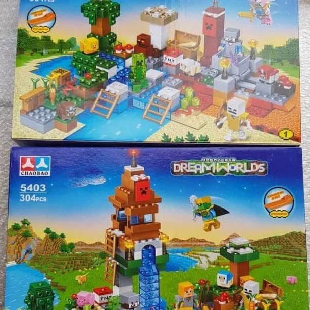 Jual Lego Minecraft Treasure Island Village Farm House My World 5403 Jakarta Barat Abdeliashop Tokopedia