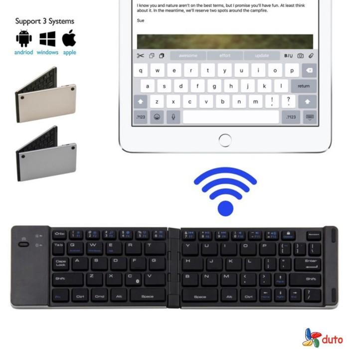 Jual Keyboard Wireless Bluetooth Mini Lipat Portable Untuk Iphone Jakarta Pusat Mahari Shopping Tokopedia