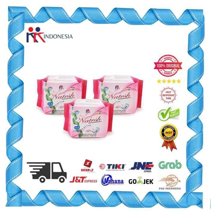 Foto Produk Paket 3 Box Natesh Pantyliner With Magnetic KK Indonesia dari Beauty Health Shop,