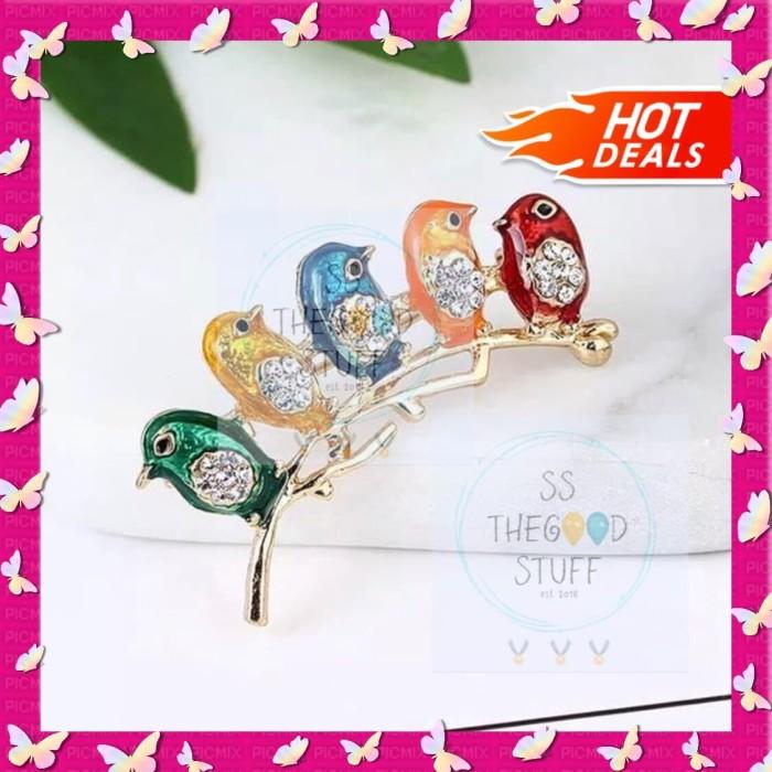 Foto Produk Pin Bross Baju Motif 5 Burung Premium Quality Best Seller! dari SS TheGoodStuff