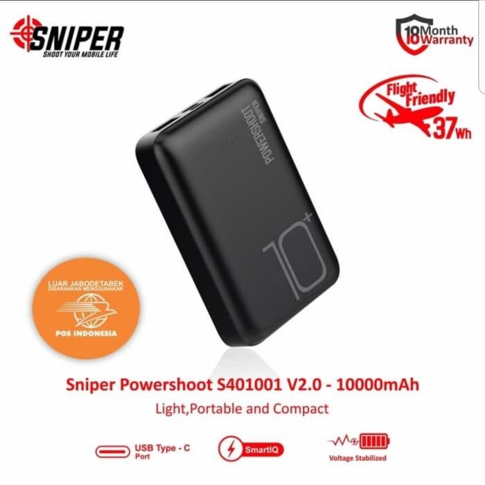 Foto Produk sniper powershot S401001 - 10050 mah powerbank quick charging dari velda10
