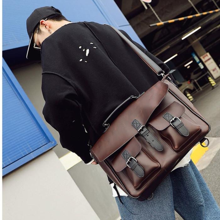 Foto Produk Tas Selempang Kulit Pria Tas Pria Tas Slempang Pria (TESLA) dari Leather Concept