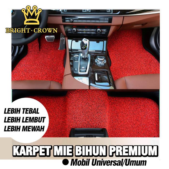 Foto Produk (KK) Karpet Mobil Premium Mie Bihun Potong Universal / Umum 2 baris - Merah dari Kerajaan karpet