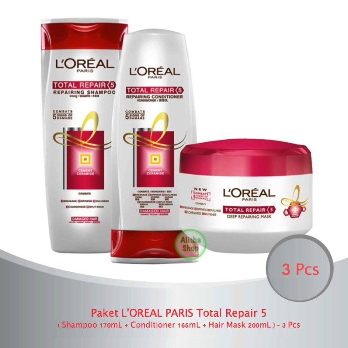 Jual Paket L Oreal Paris Total Repair 5 Sham Cond Hair Mask 3 Pcs Kota Surabaya Setyo Fashion Tokopedia