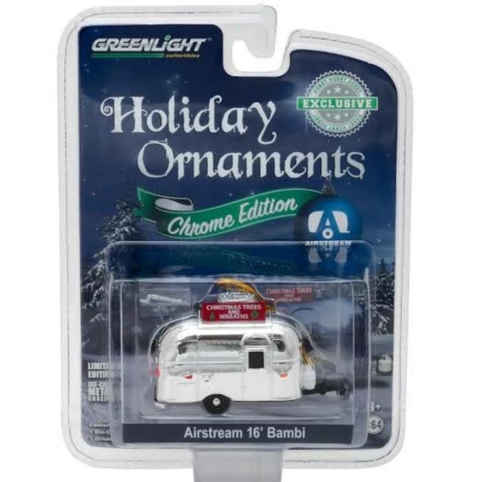 Foto Produk PROMO Greenlight 1/64 Airstream 16' Bambi Holiday Ornament Chrome dari Vovo Toys