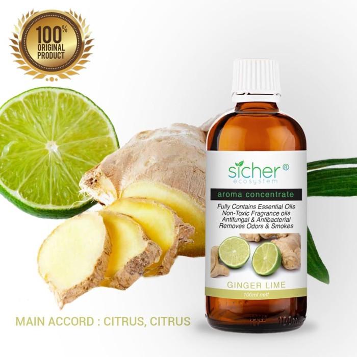 Foto Produk Sicher SA-102 Fragrance Oil Ginger Lime 100ml dari Sicher Ecosystem
