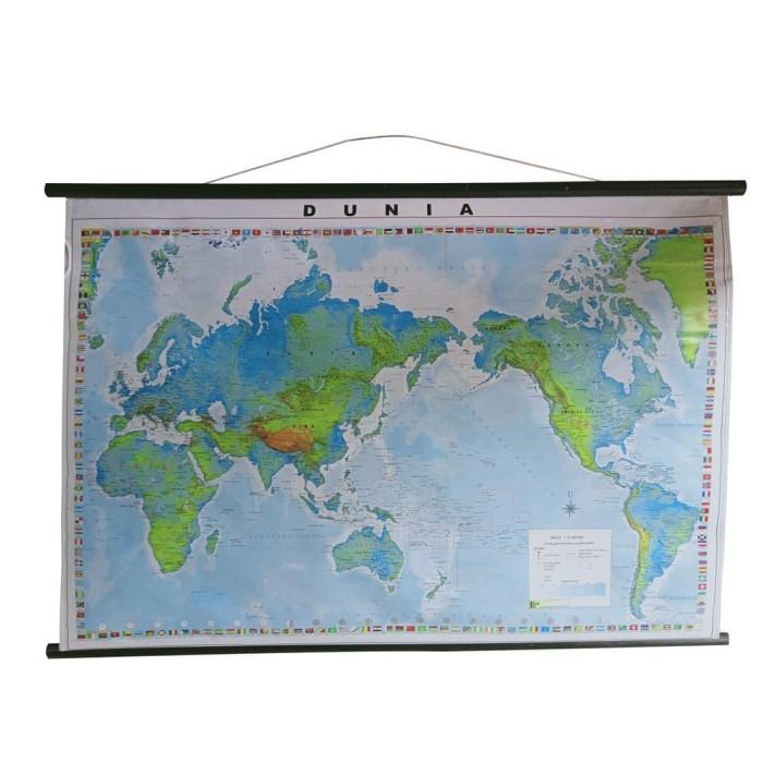 Foto Produk Peta DUNIA 110 cm x 75 cm x 6 cm dari officemart