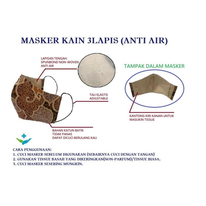 Foto Produk ~Cutevina~Masker/Sarung 3 lapis Motif Batik Ramah Lingkungan - HEADLOOP dari Cutevina