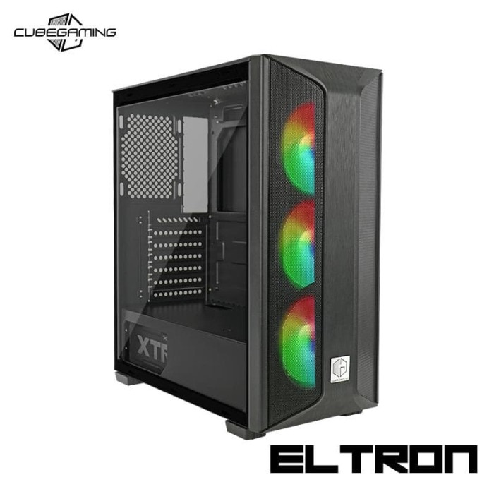 Jual Casing PC CUBE GAMING ELTRON - TEMPERED GLASS