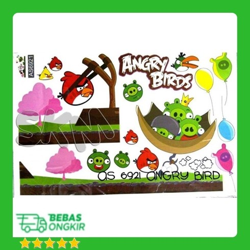 Jual As6921 Angry Bird N Green Pig 60x90 Walstiker Wallsticker Walstiker Kota Depok Lubnaelectro Tokopedia
