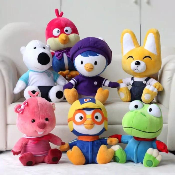Foto Produk boneka pororo original 20cm import asli pororo kartun korea mainan - Pororo dari cutePeppa