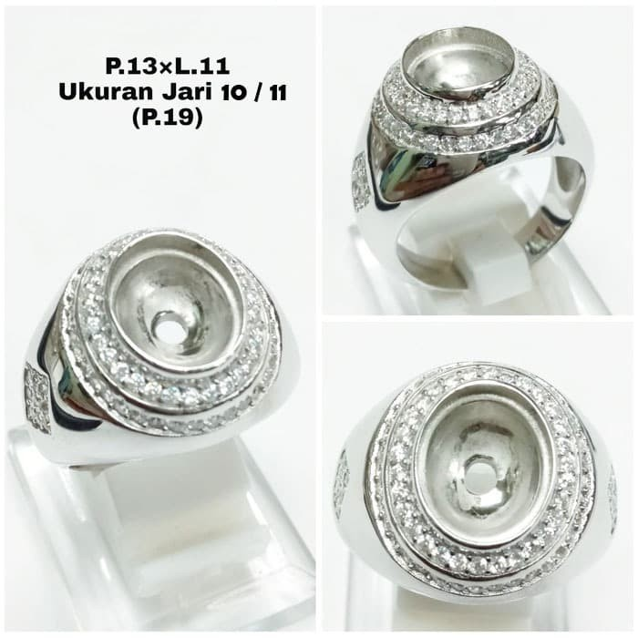 Jual Perak Asli Perak 925 Cincin Silver 925 Cangkang Emban Batu
