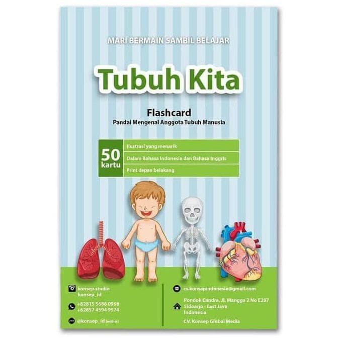 Jual Flash Card Tubuh Kita Bhs Indonesia Inggris Jakarta Utara Rumahmichio Tokopedia