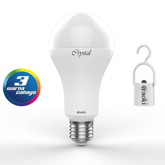 Foto Produk LAMPU BOHLAM LED 13WATT 3 WARNAAC / DC SMART CRYSTAL AOKI AK SL313 dari Aoki Official Store