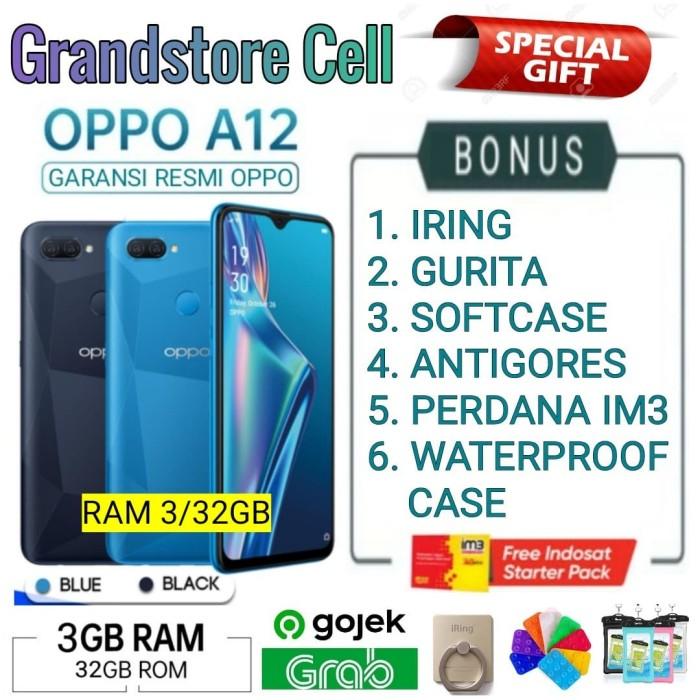 Foto Produk OPPO A12 RAM 3/32 GB GARANSI RESMI OPPO INDONESIA - Demo Tanpa Dus dari Grandstore cell