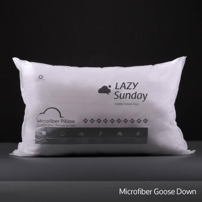 Foto Produk Bantal Microfiber Bulu Angsa Grade A - Medium to Firm - LAZY Sunday - dari LAZY Sunday Store