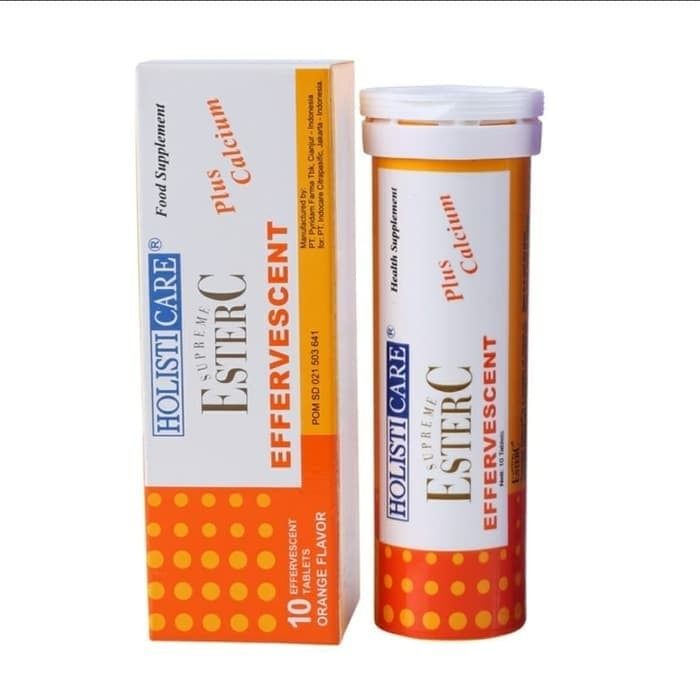 Foto Produk Holisticare Ester C Effervescent isi 10 Tablet - Orange dari neesaama