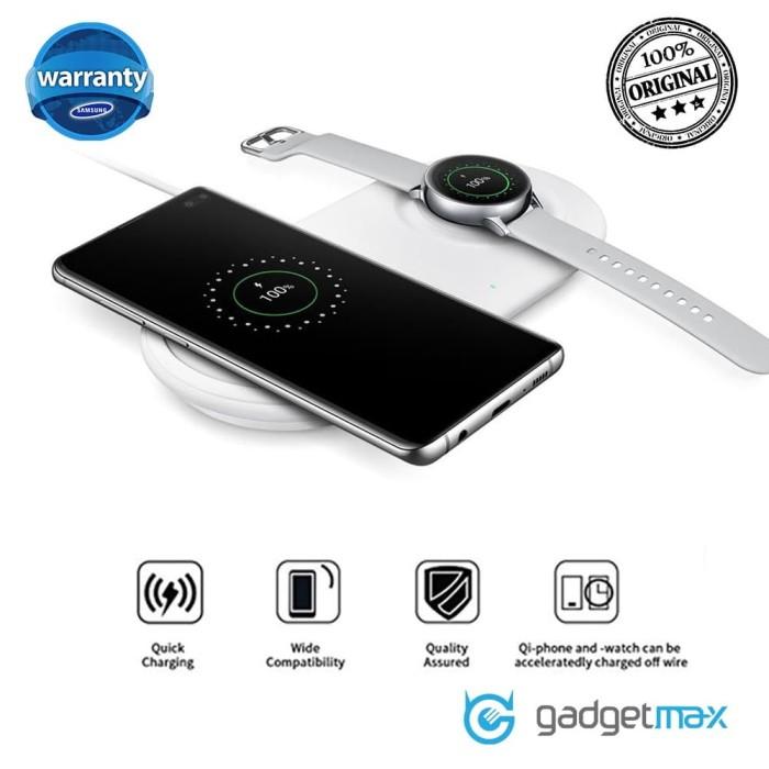Foto Produk Original Samsung Wireless Charger Duo Pad 2.0 White dari Gadgetmax.net